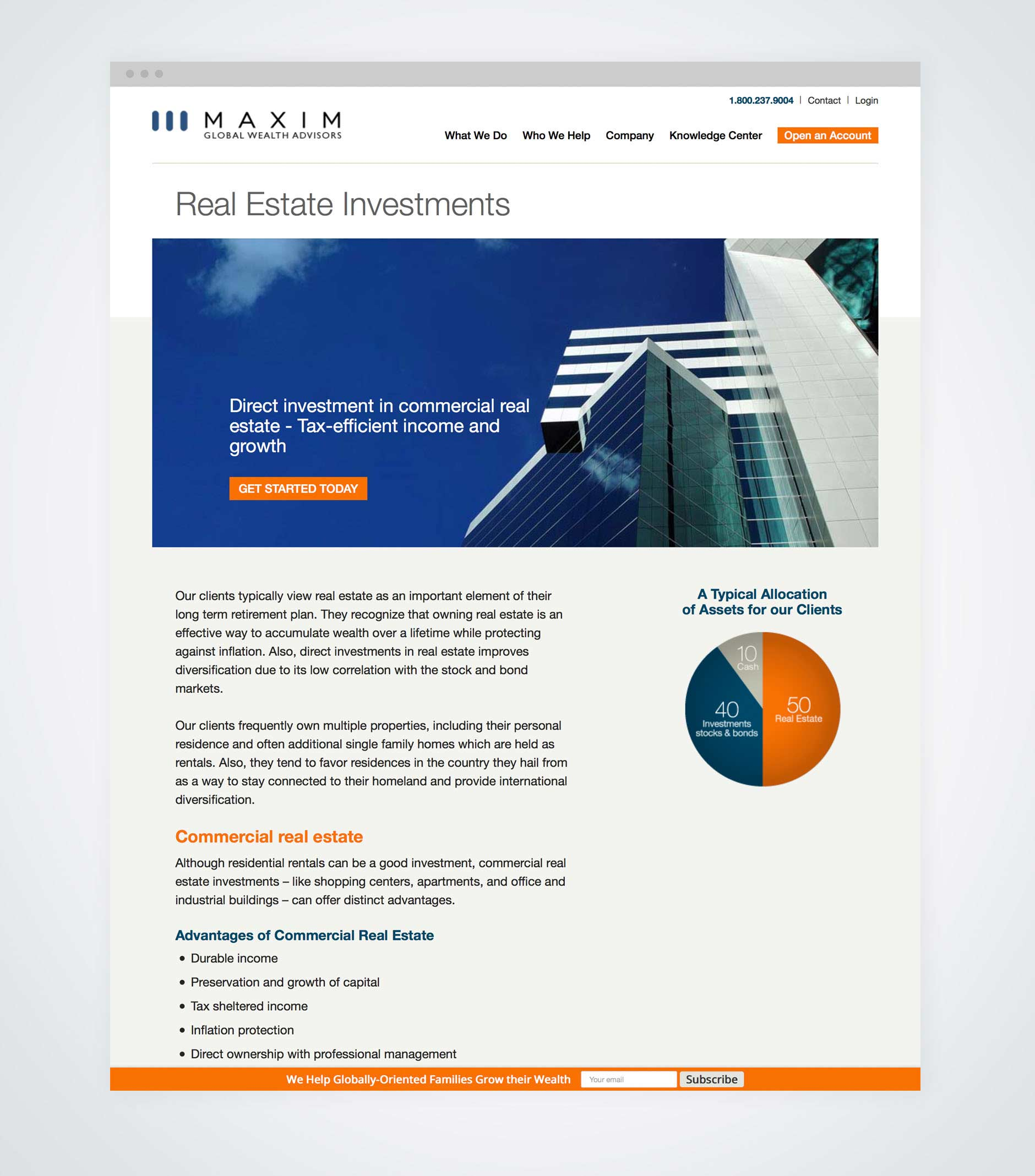 Maxim Global Wealth Advisors Website